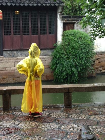 Emily's daughter in her yellow mac <3