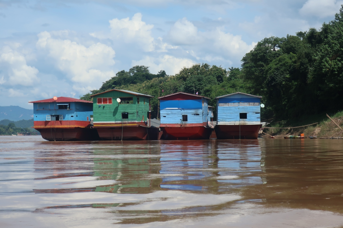 Tuk Tuks and Riverboats in Luang Prabang, Laos
