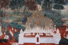 Detail from the murals surrounding the Silver Pagoda.