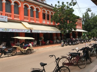 A central street in Siem Reap